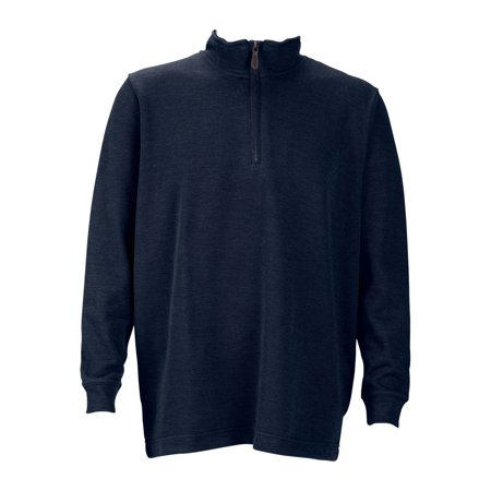 Mens 1 4 Zip Flat Back Rib Pullover  Color  Navy