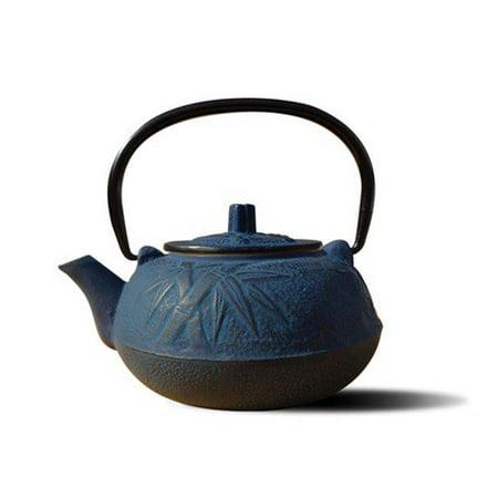 Old Dutch International 1012BL Blue Cast Iron Osaka Teapot 20 Oz.