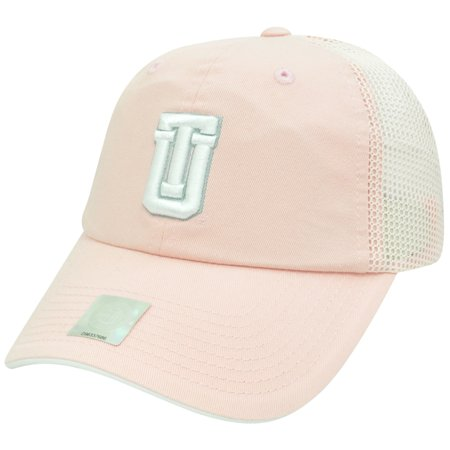 NCAA Tulsa Golden Hurricane Pink Mesh Ladies Garment Washed Slouch Relax Hat Cap - Halloween Store Tulsa