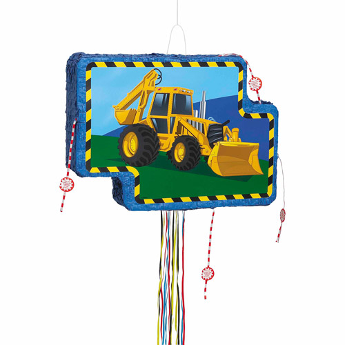 Construction Truck Pinata, Pull String