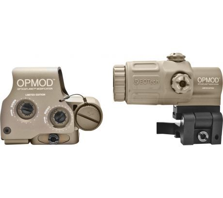 OPMOD EOTech Hybrid Sight IOP Holosight w  3X G33 Magnifier, Tan by