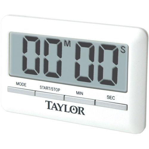Taylor Ultrathin Lcd Digital Timer With Clock   Walmart.com