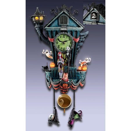 disney the nightmare before christmas cuckoo wall clock bradford exchange