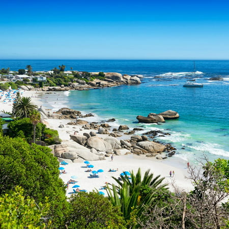 Awesome South Africa Collection Square - Clifton Beach - Camps Bay Print Wall Art By Philippe Hugonnard