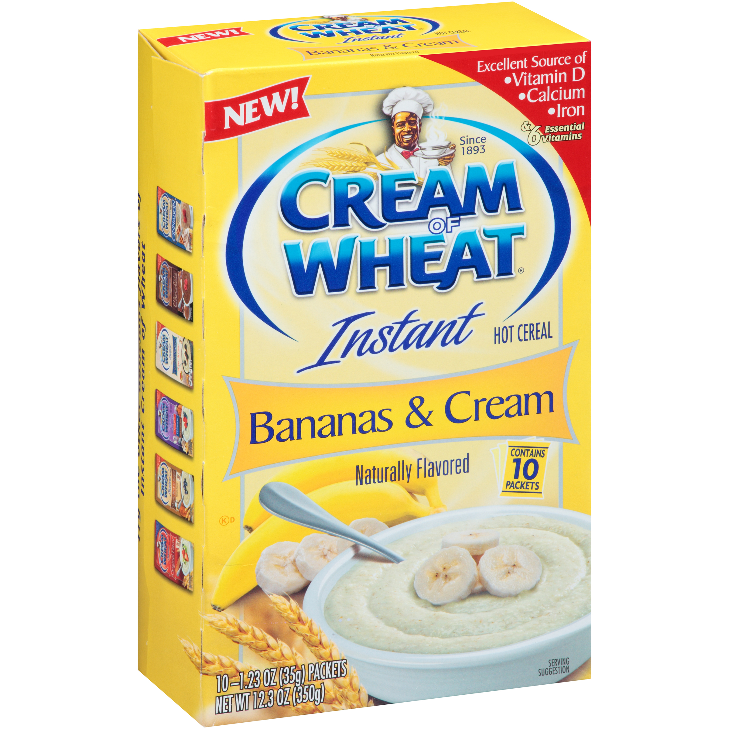 Cream of Wheat Instant Hot Cereal Bananas & Cream - 10 CT1.23 OZ