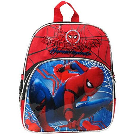 Mini Bacpack - - Spiderman Homecoming Red 10 School Bag New 694647 (Spider Man Bag)