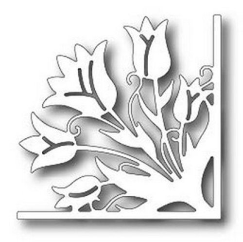 Tulip Corner Cutting Die TUTT254, Tutti Designs dies can be used with all leading die cutting machines By Tutti Designs