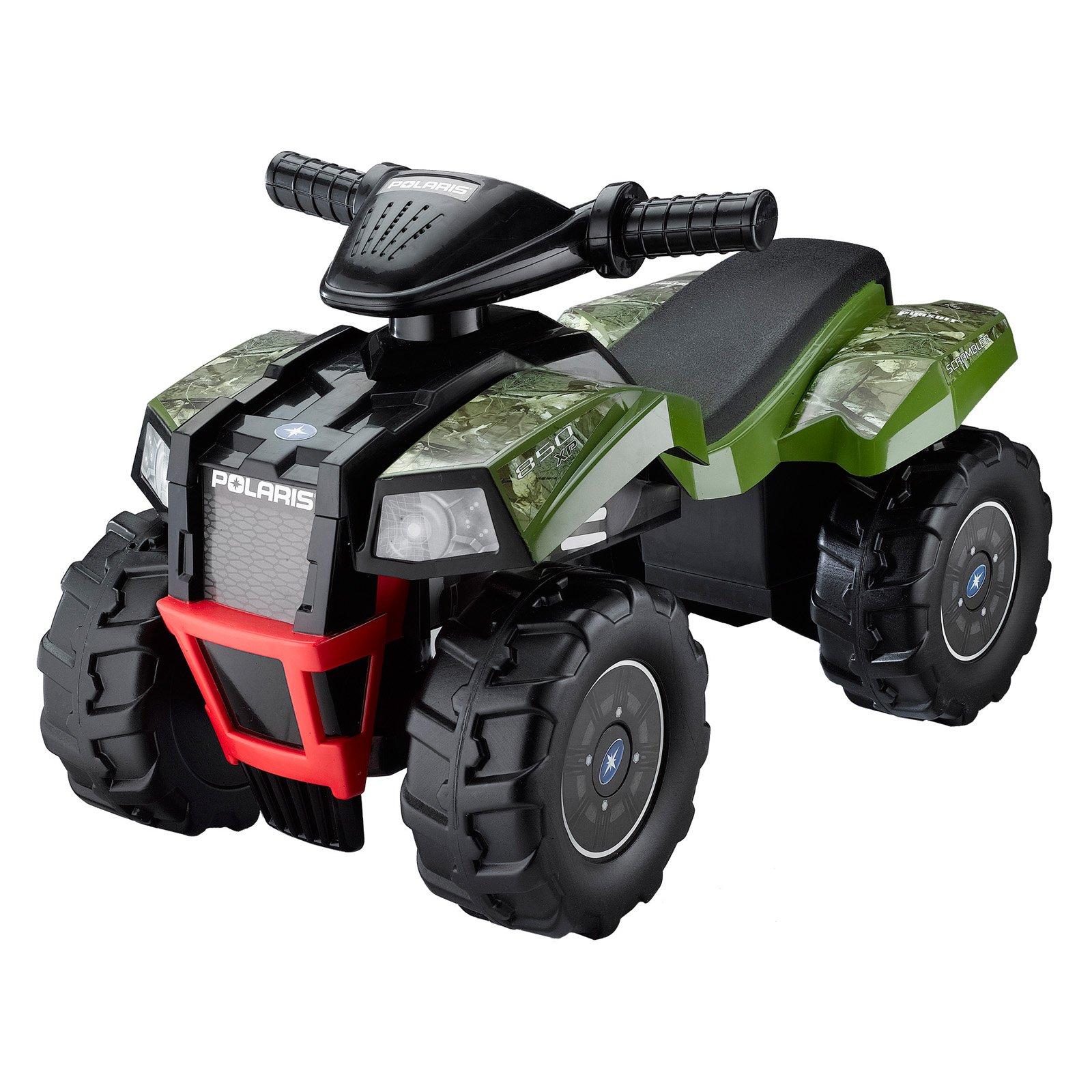 Tek Nek Toys Polaris Green HD Camo Scrambler ATV Ride - On