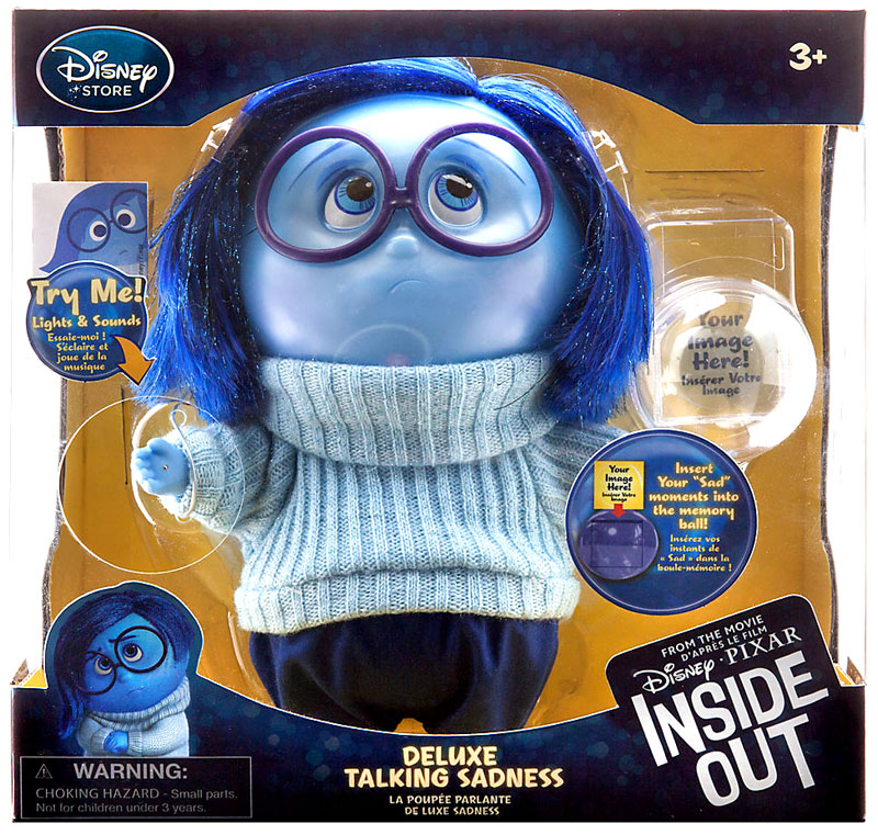 Disney / Pixar Inside Out Sadness Deluxe Talking Action Figure