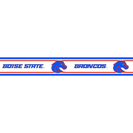Boise state peel and stick wallpaper border for Peel and stick wallpaper walmart