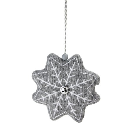 5 Gray And White Knitted Snowflake Christmas Ornament Walmart