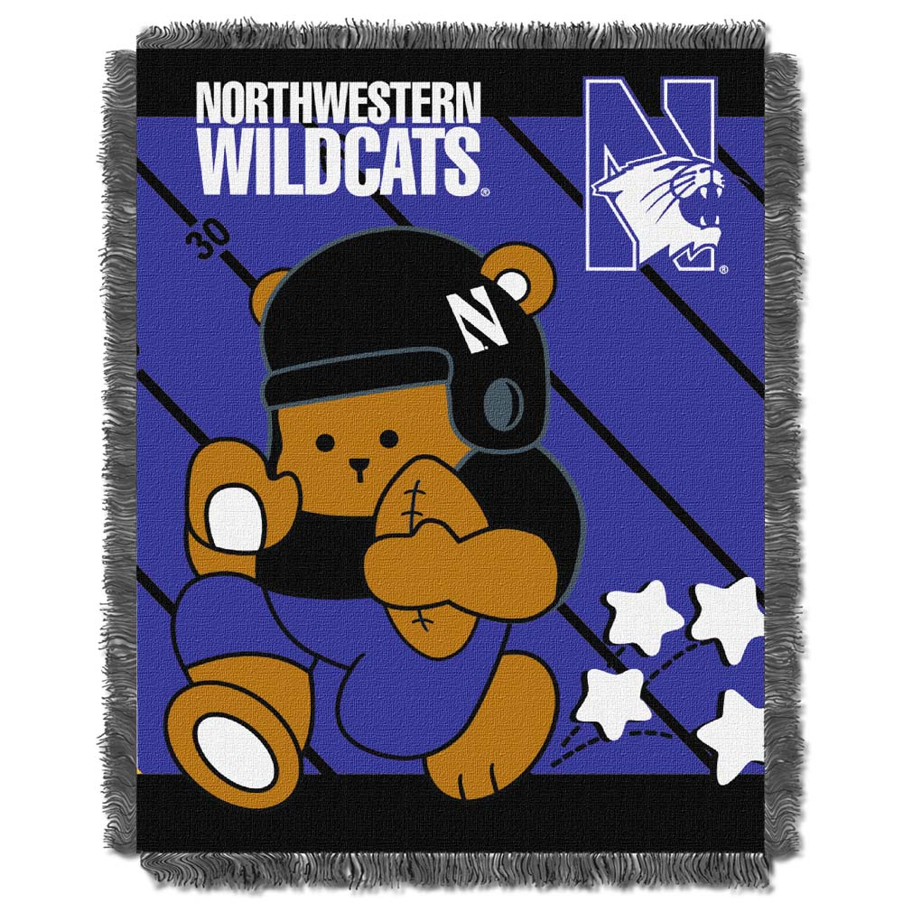 Northwestern Jacquard BABY Throw Blanket