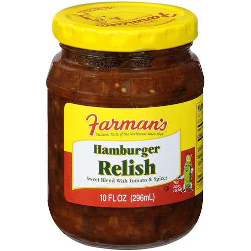 Farman's Sweet Blend With Tomato & Spices Hamburger Relish, 10 oz