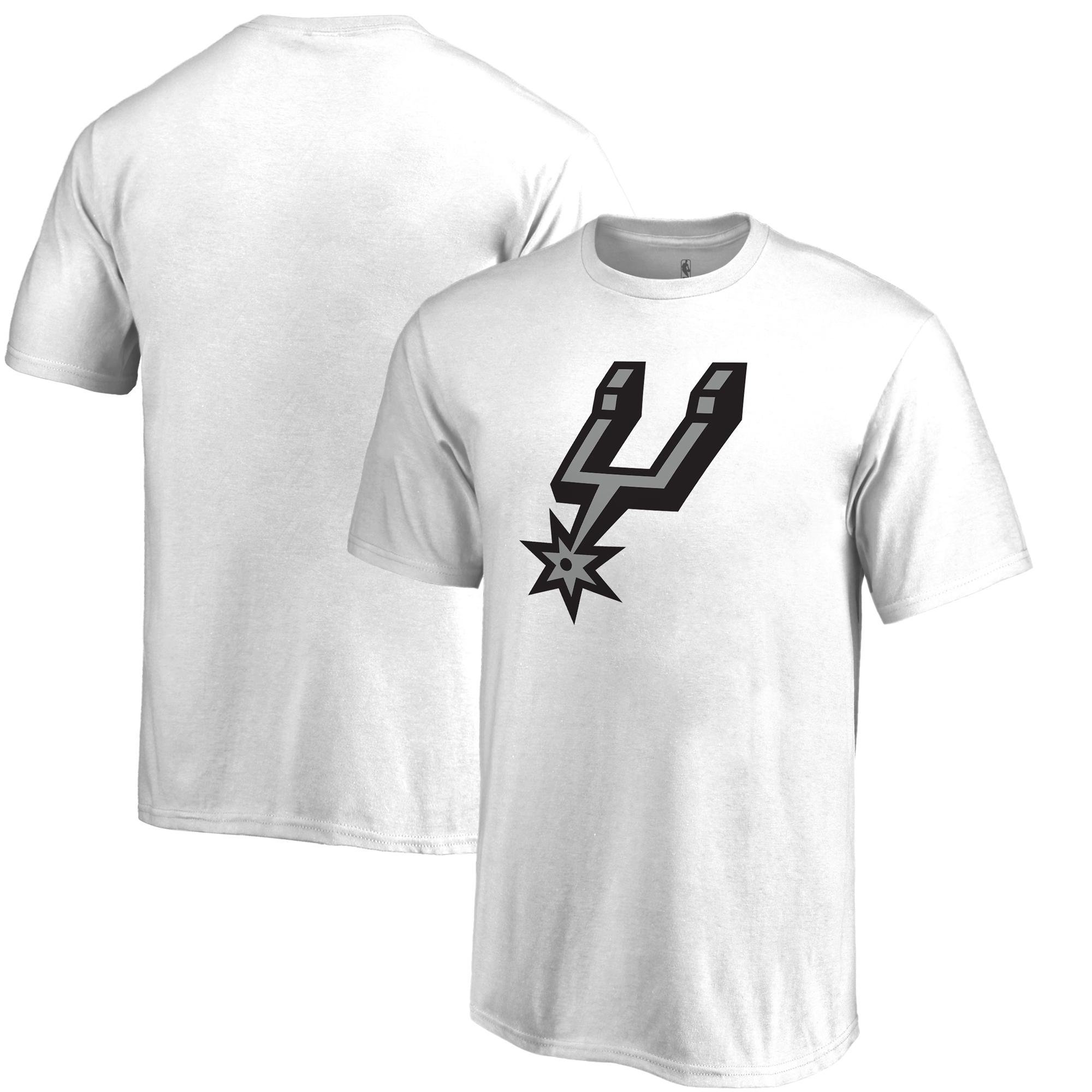 San Antonio Spurs Fanatics Branded Youth Team Primary Logo T-Shirt - White