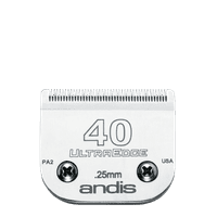 Andis UltraEdge Detachable Blade Set, Size 40, 1/100 Inches, 0.25 mm