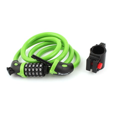 Bicycle Bike Cycle 5 Digit Combination Security Pad Lock 12mm Cable Green - image 1 de 1