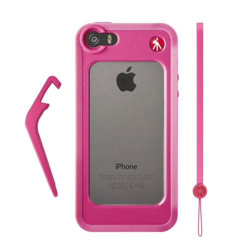 Manfrotto KLYP+ Bumper for iPhone 5/5s + Kickstand + Hand-Wrist Strap (Pink)
