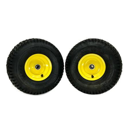 (2) John Deere Front Wheel Assemblies 15x6.00-6 Fits John Deere L100 L100A
