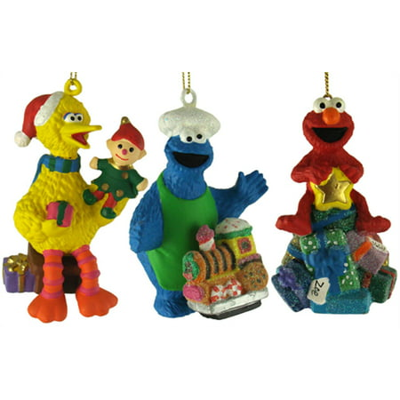 36 Sesame Street Ernie, Big Bird & Cookie Monster with Toys Christmas  Ornaments - 36 Sesame Street Ernie, Big Bird & Cookie Monster With Toys