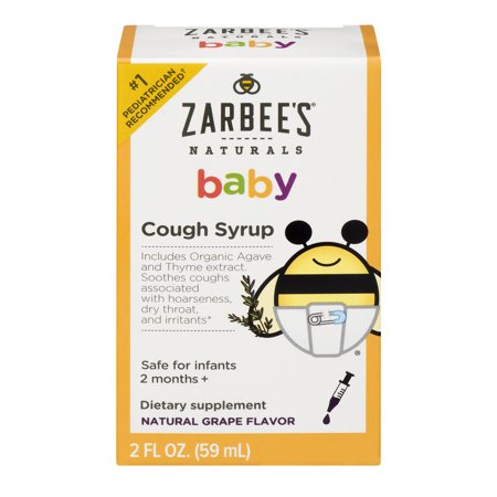 Zarbee S Naturals Baby Cough Syrup Grape 2 0 Fl Oz