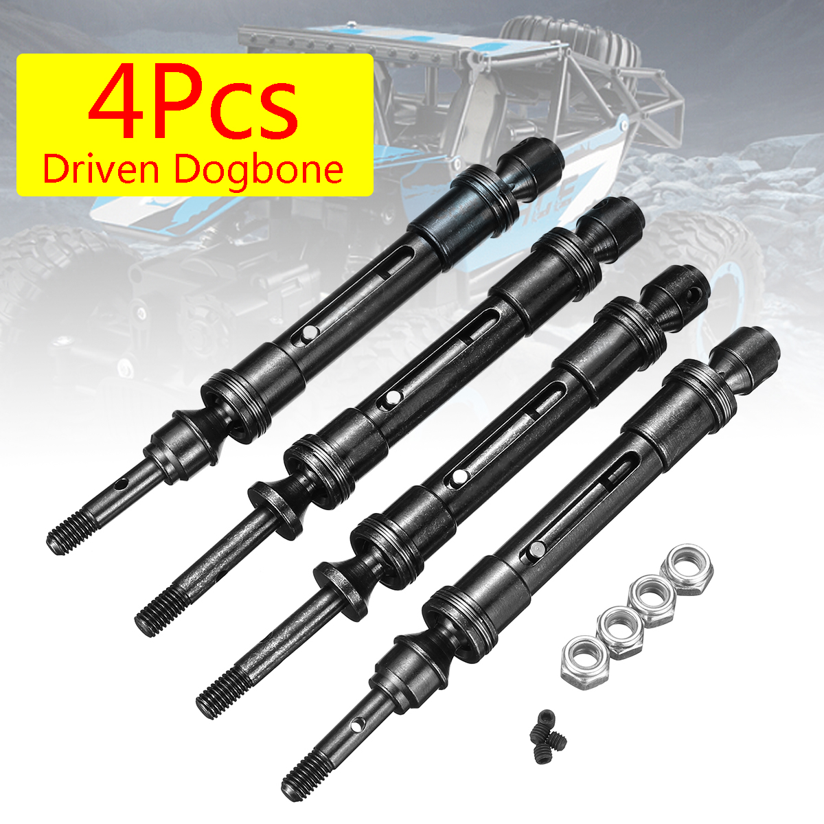 1 Pair Set Black Upgrade Parts Harden Steel #45 Rear Axle CVD Drive Shaft with Alloy Body 67076-4 GPM Traxxas Rustler 4X4 VXL