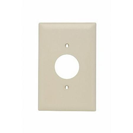 - Pass & Seymour TPJ7-I TradeMaster® Jumbo Size 1-Gang Single Receptacle Plate; Wall Mount, Nylon, Ivory