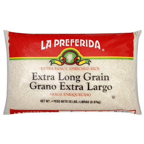 La Preferida Extra Long Grain Enriched Rice, 20 lb  (Pack of 2)