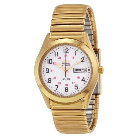 Seiko Solar White Dial Gold-tone Mens Watch SNE064