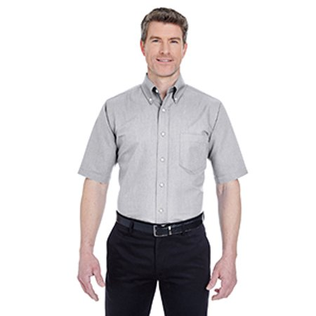 Customizable Classic Short (Ultraclub 8972 Men's Classic Wrinkle-Resistant Short-Sleeve Oxford)