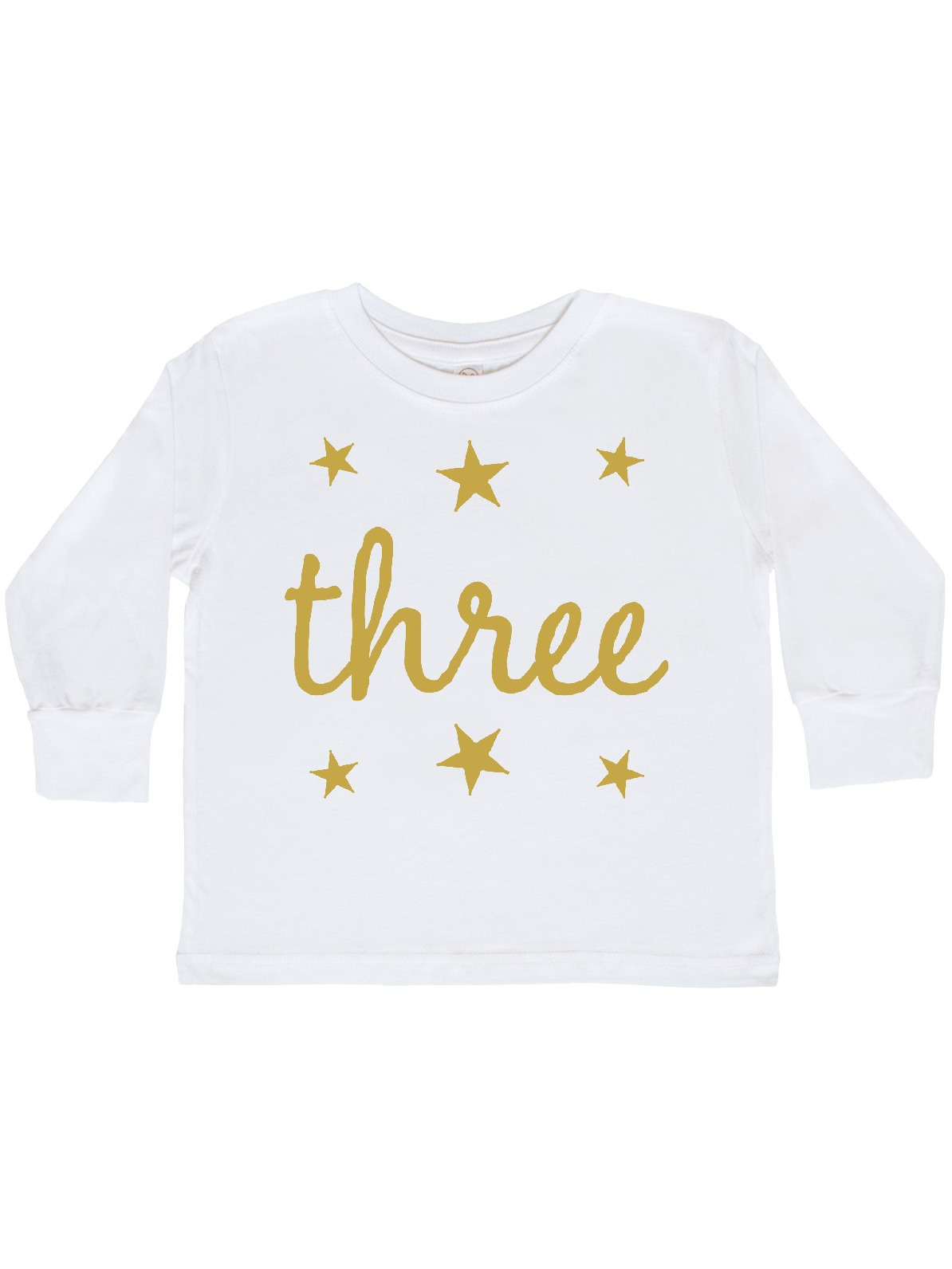 inktastic 3rd Birthday Party Candle Toddler Long Sleeve T-Shirt