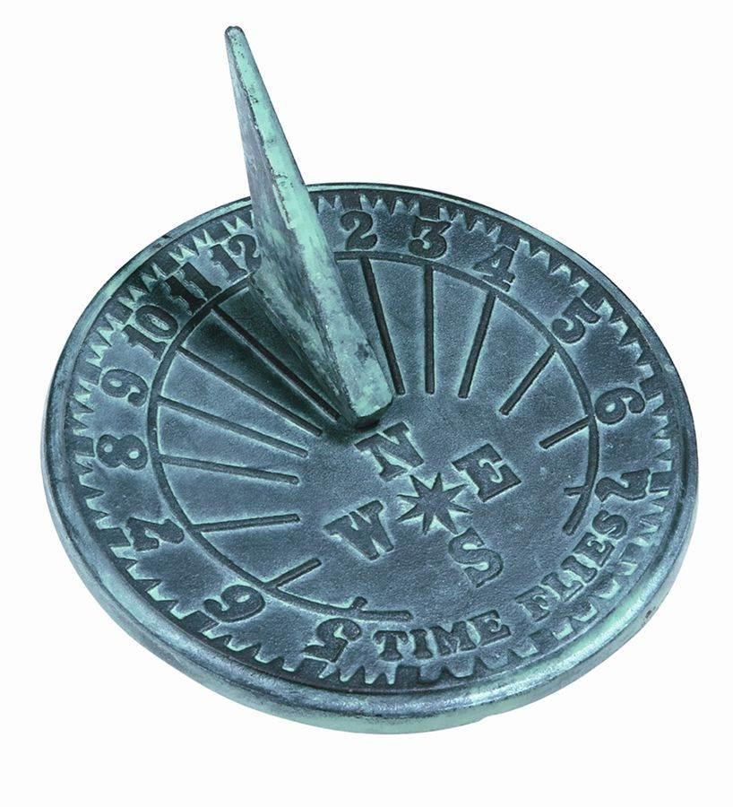 Cast Iron Time Flies Sundial