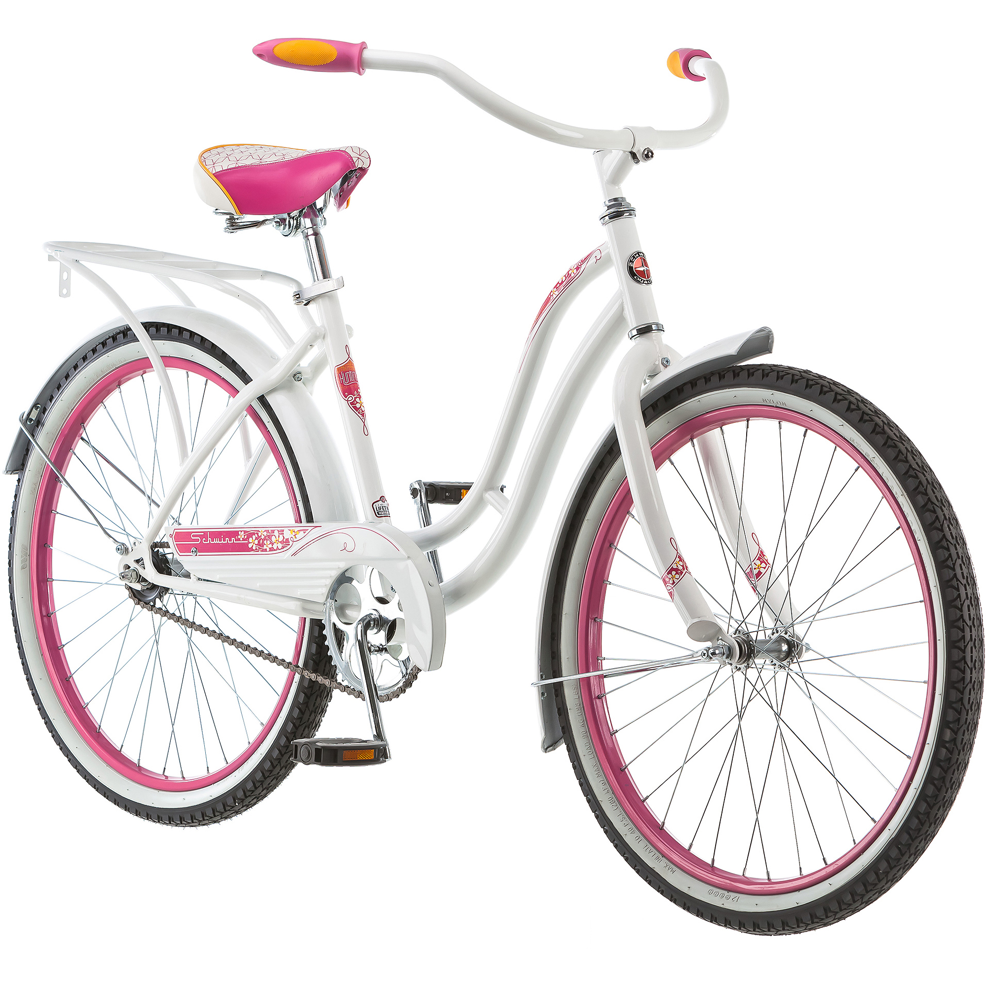 "24"" Schwinn Girls' Huntington Cruiser Bike, White"