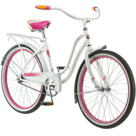 24   Schwinn Girls Huntington Cruiser Bike  White
