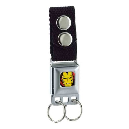 Iron Man Marvel Comics Superhero Retro Comic Close-Up Key Chain - Superhero Keychains