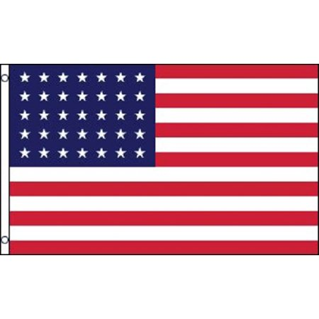 - 35 Stars American Flag Historical United States Banner USA Pennant 3x5 Outdoor
