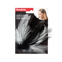 Bulk Buys WM409-24 Simplicity Feather Plume Headband Accent