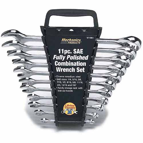 Wilmar Corporation W1061 11-Piece Full Polish Combination Wrench Set