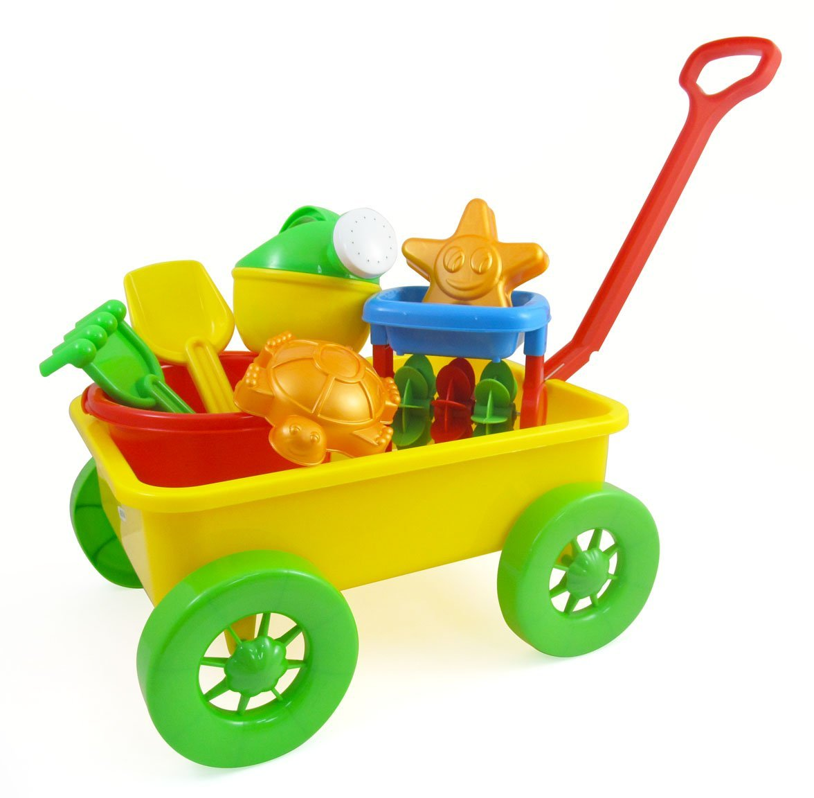 Uncategorized Toy Pail beach wagon toy set for kids with sand wheel bucket shovel rake water pail starfish and turtle walmart com