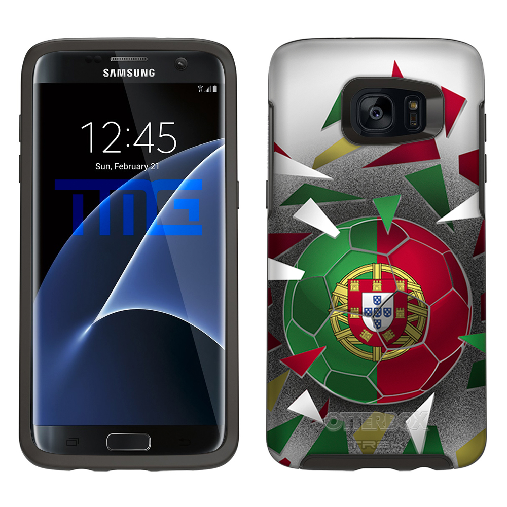 Skin Decal for Otterbox Symmetry Samsung Galaxy S7 Edge Case Soccer Ball... by Trek Media Group