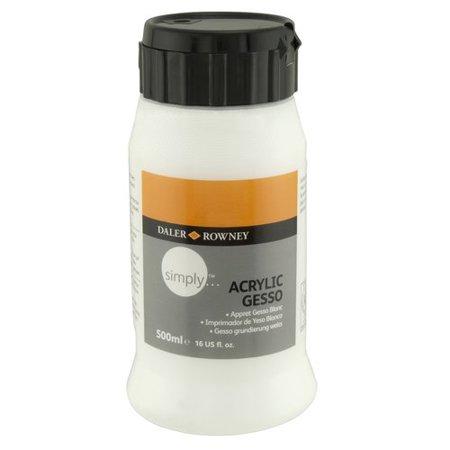 Daler rowney simply acrylic gesso 16 oz for Craft smart acrylic paint walmart