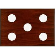5-Slot Instrument Panel in Mahogany Finish
