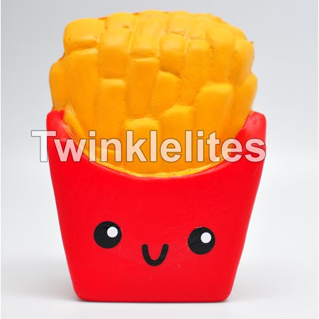 Squishy Slow Rising Squeeze FRIES Fun Stress Anxiety Reliever Fry Fast Food Squishies Jumbo Soft ...