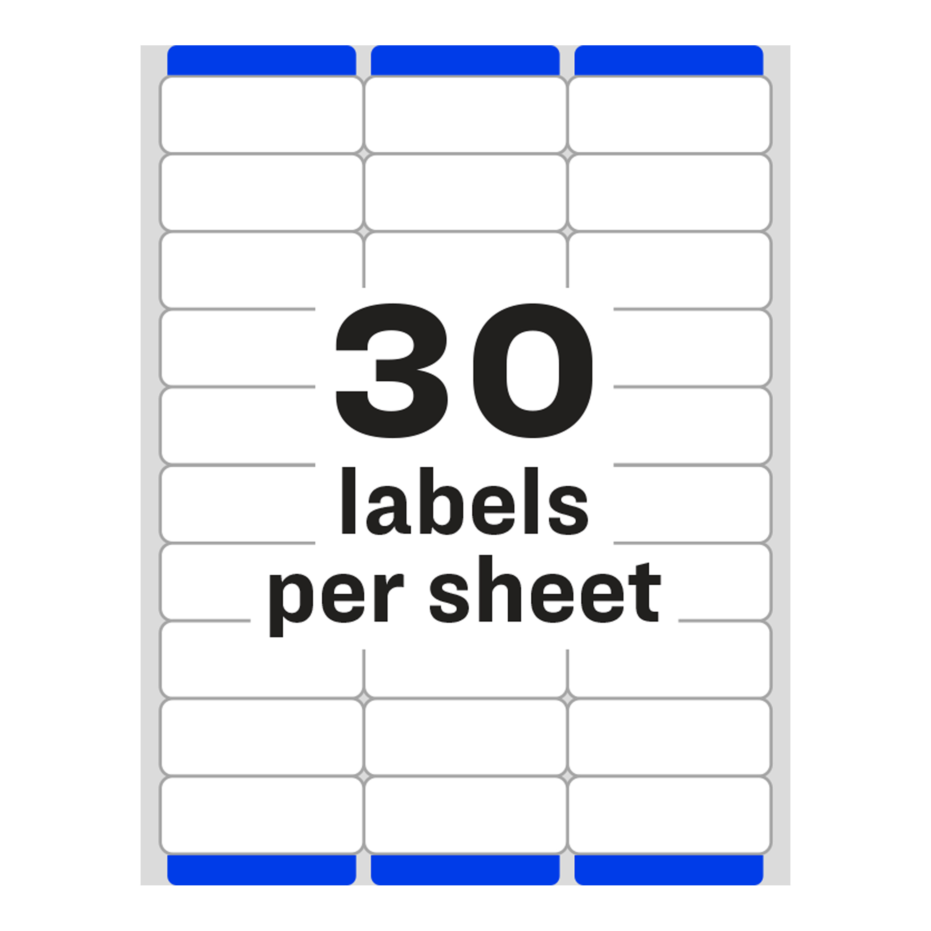 Avery Easy L Address Labels Sure Feed Technology Permanent Adhesive 1 X 2 5 8 3 000 5160