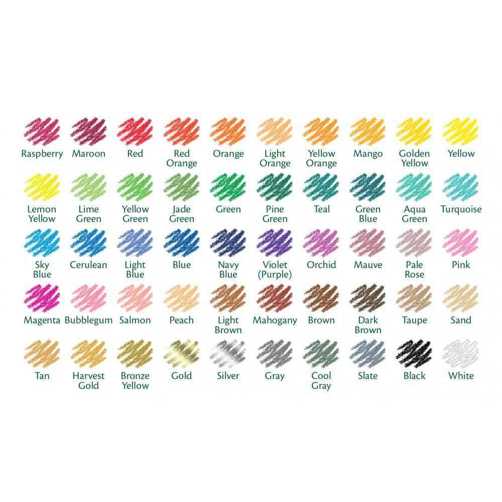 Crayola Colored Pencils, Coloring Supplies, 50 Count
