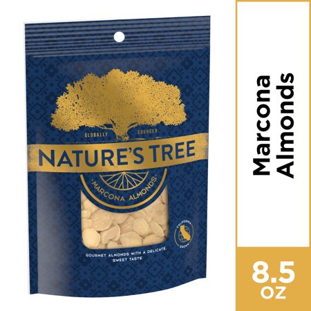 Nature's Tree Marcona Almonds, 8.5 oz Bag (Best Almonds In The World)