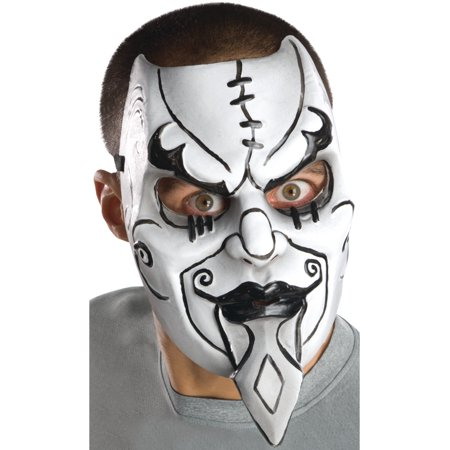 Adult Black And White Carnival Tragedy Macabre Costume Day Of The Dead Mask](Comedy Tragedy Mask)