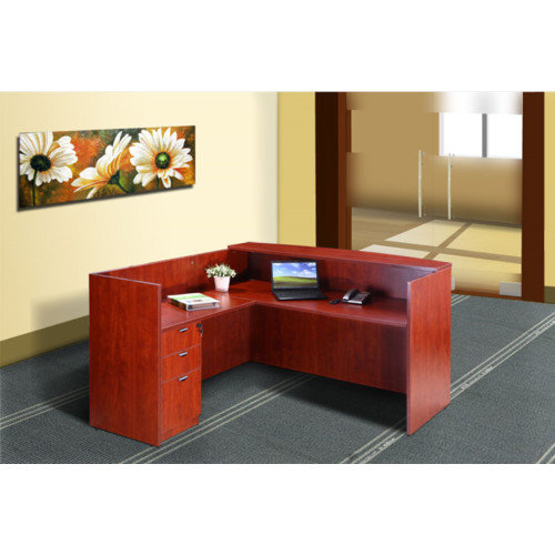 Boss Office Products Reception 42'' Desk Return