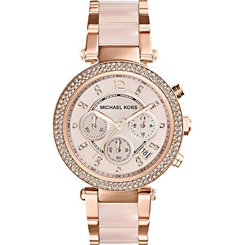 Michael Kors Women's Parker Rose Gold-Tone Stainless Steel Bracelet Watch, 39 mm, MK5896