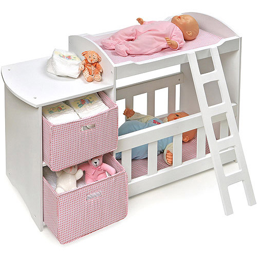 Badger Basket Doll Crib And Changing Station With 2
