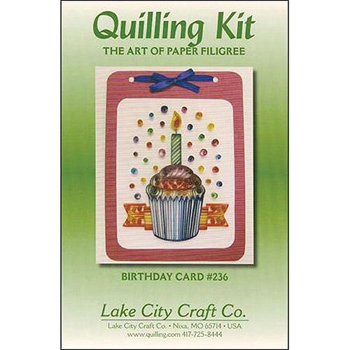 Quilling Kit, Birthday Cupcake
